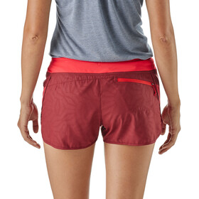 """Patagonia Strider Shorts 3"""" Dam hexy: oxide red"""